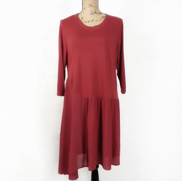 Soft Surroundings Dresses & Skirts - Soft Surroundings asymmetrical hem dress size LP